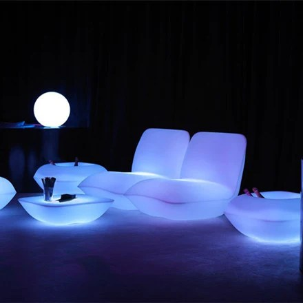 led table and chairs 2 seater love chair light furniture lu qing wen best luminous pillow lounge sofa for sale