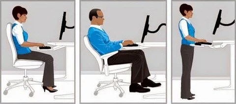proper chair posture at computer green dining covers principles of office ergonomics | summit