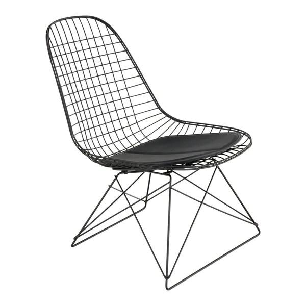black wire chair wide accent modernica case study low rod base design public