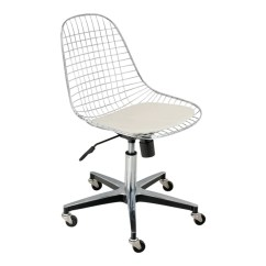White Rolling Chair Pine Dining Chairs Uk Modernica Case Study Wire Base Design Public