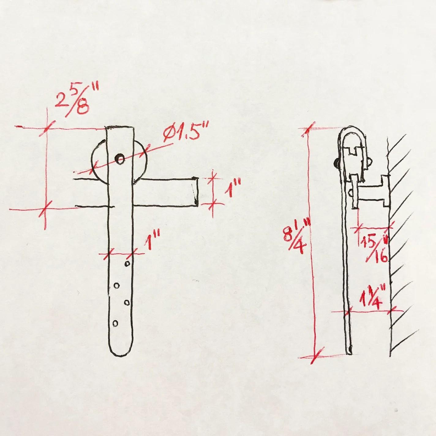 78 inch mk78 mini sliding barn door hardware kit for double door cabinet [ 1424 x 1424 Pixel ]