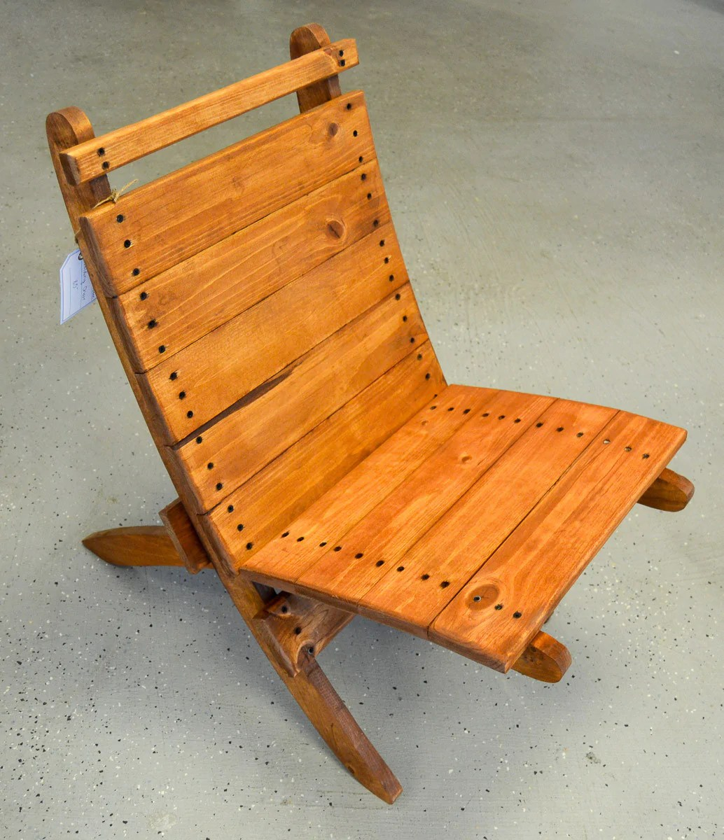 Folding Wood Beach Chair Foldable Wood Beach Chair Great Lakes Reclaimed