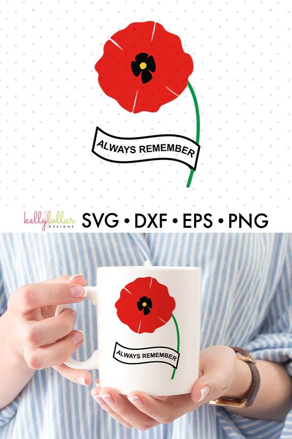 Poppy Svg : poppy, Remembrance, Poppy, Files, Kelly, Lollar, Designs