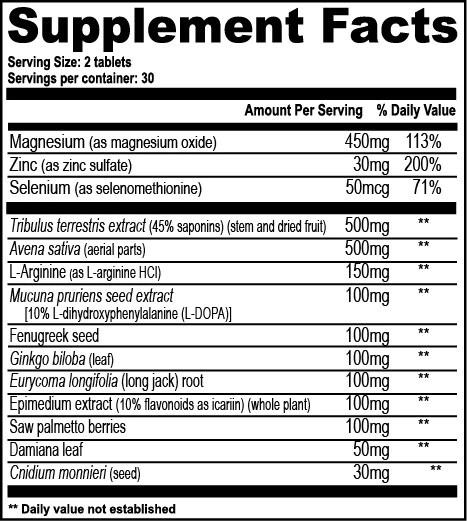 Image result for testrol original supplement facts