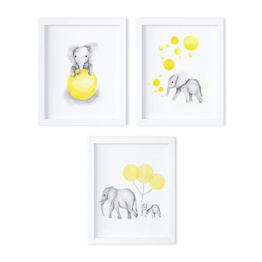 baby elephants nursery art
