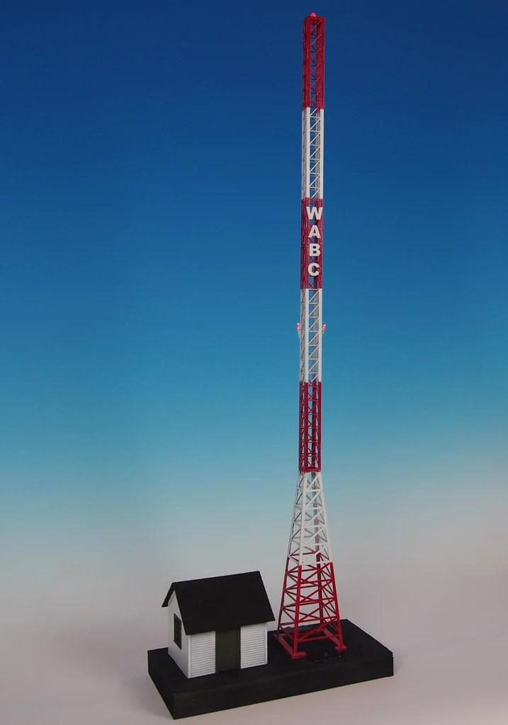 Korber Models 703 O Scale Radio Station Amp Tower W Flashing LED