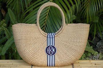 straw bags the monogram