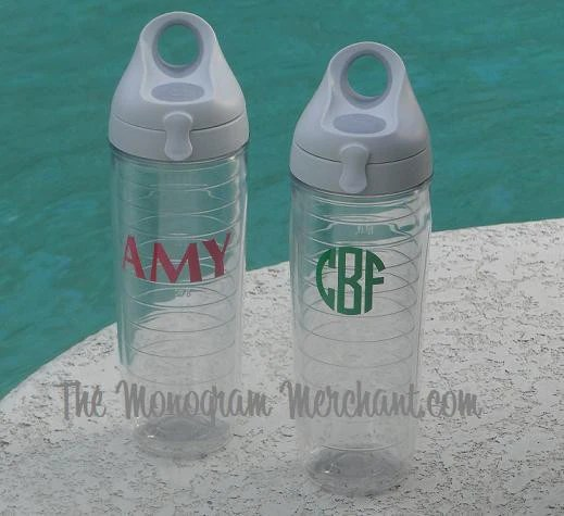 water bottles the monogram