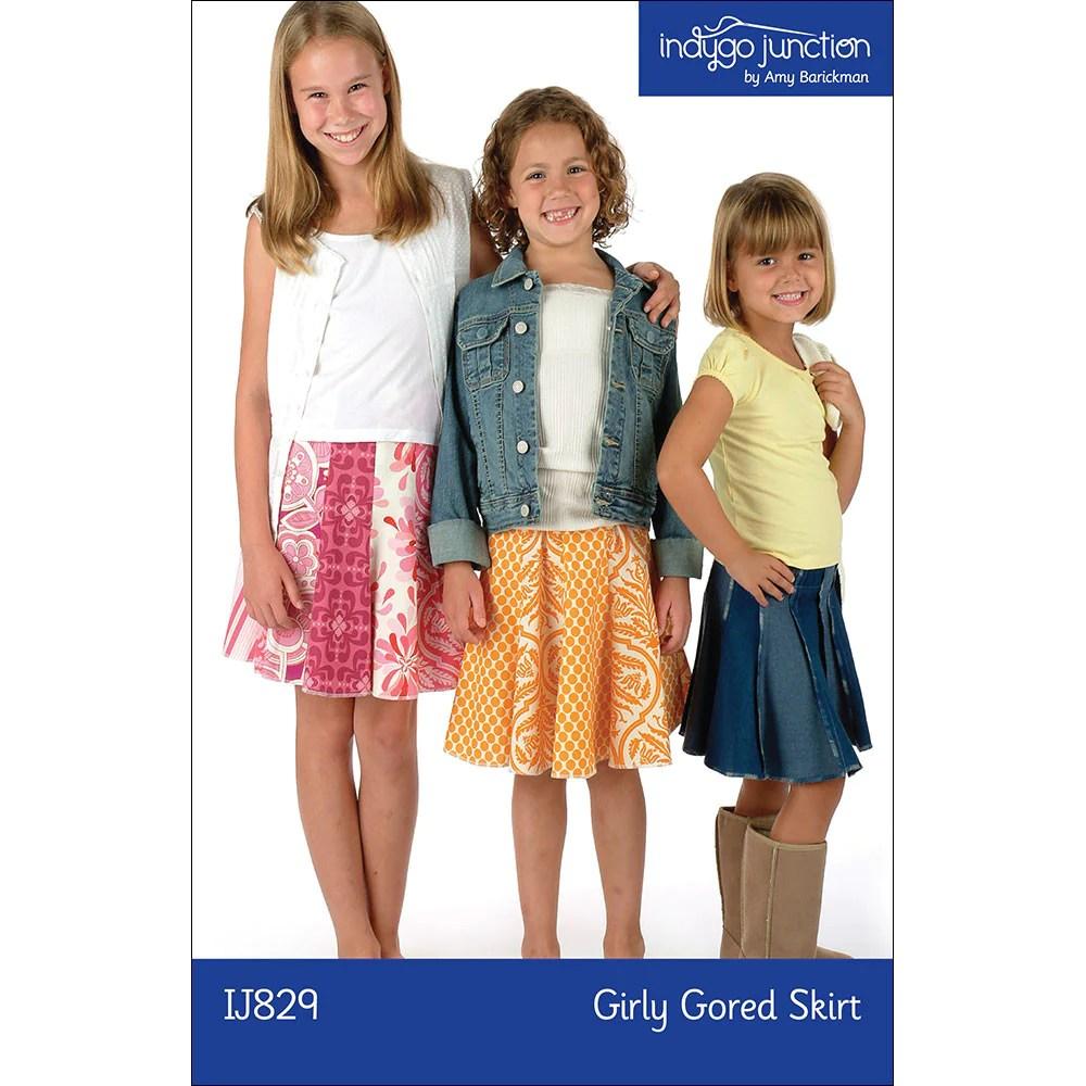 Girly Gored Skirt childrens skirt sewing pattern from