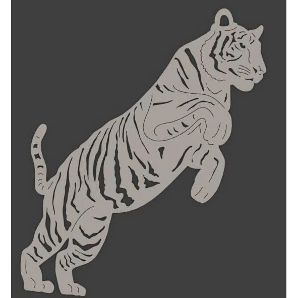 bengal tigers - dxf files cut ready