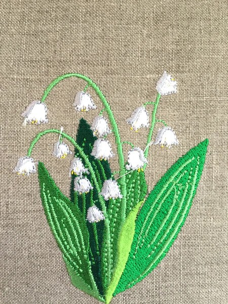 Lily Of The Valley Embroidery : valley, embroidery, Embroidered, Towel,, Guest, Towel., Whimsea, Cottage