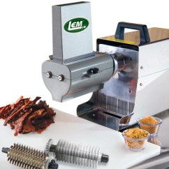 Kitchen Aid Grinder Apartment Size Table Lem 433tj 2 In 1 Jerky Slicer & Tenderizer Attachment ...
