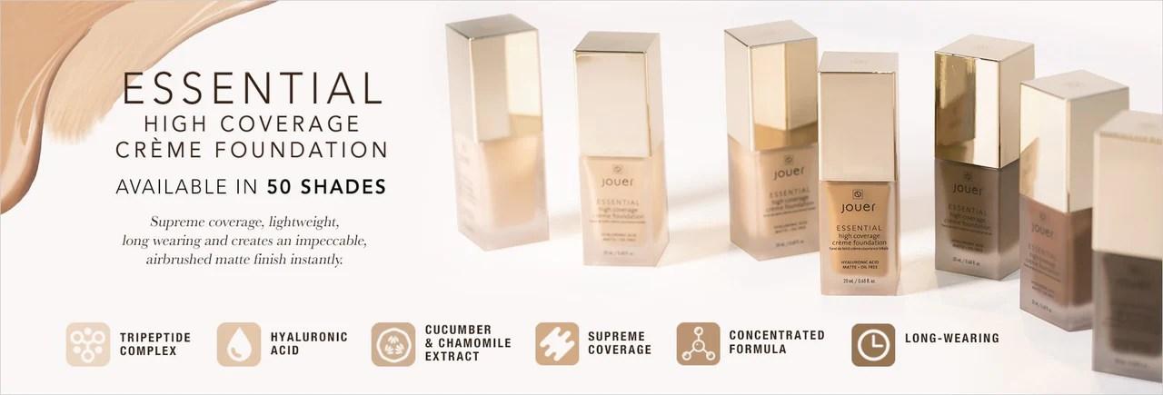 Essential high coverage creme foundation also  jouer cosmetics rh jouercosmetics