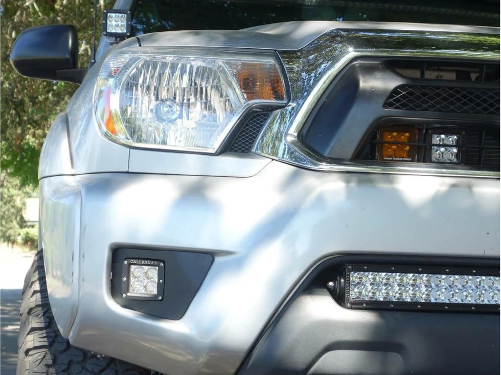 small resolution of 2012 2015 toyota tacoma led fog light pod replacements combo cali raised led