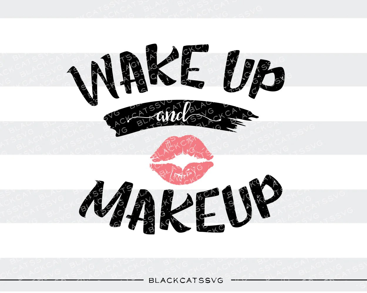 wake up and makeup svg file cutting file clipart in svg eps dxf  [ 1250 x 1000 Pixel ]