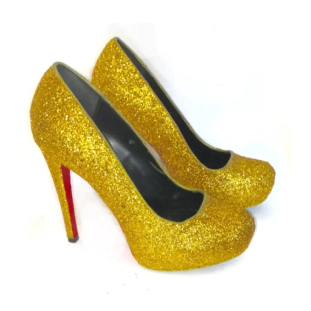 73ac44461 Red Glitter Wedding Shoes · Womens Sparkly Gold Glitter Heels Bridal Wedding  Bride