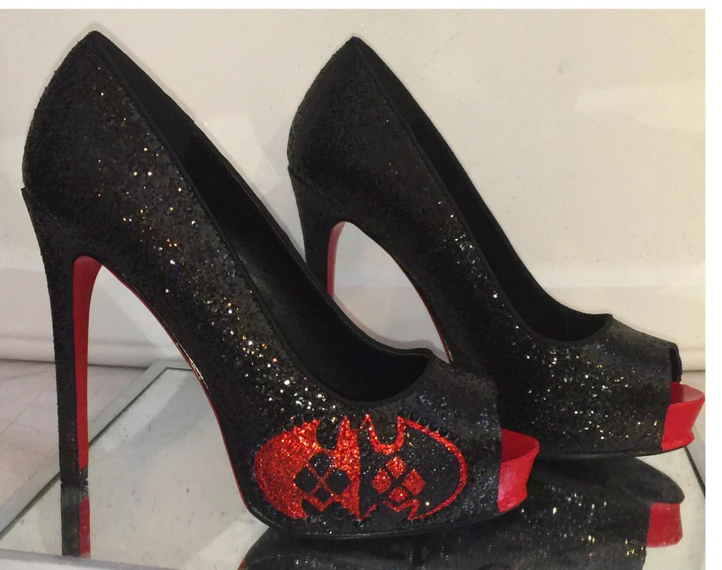 d210b6328 Red Wedding Shoes Super Sparkly Glitter - Year of Clean Water