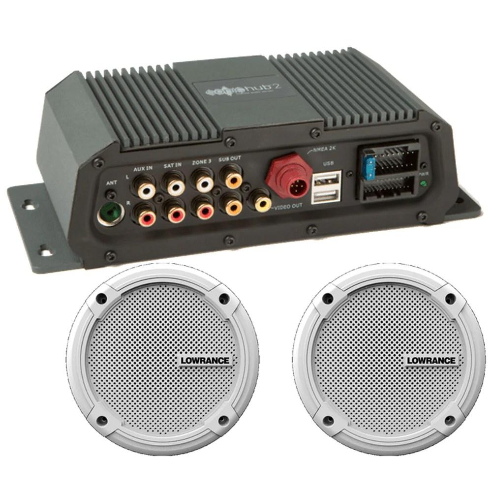 hight resolution of lowrance sonichub 174 marine audio server