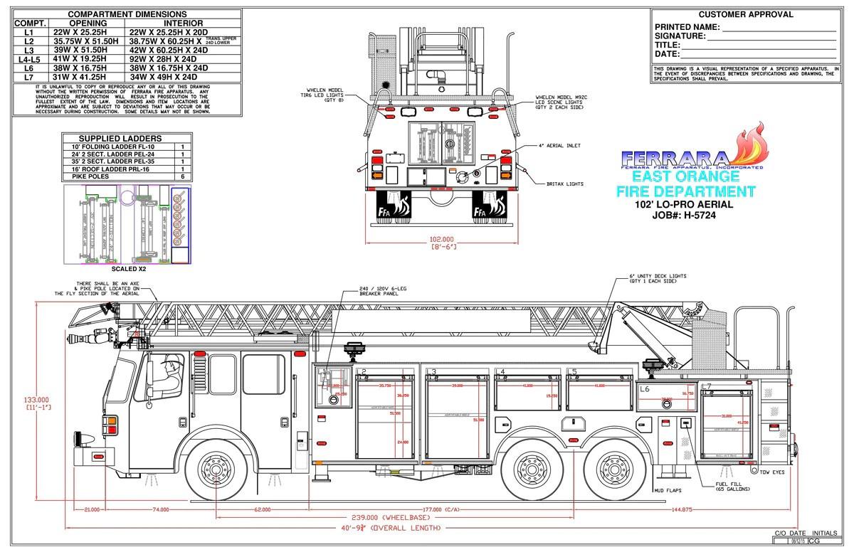 east orange nj ferrara lp 102 ladder spec drawing page 2 [ 1200 x 776 Pixel ]