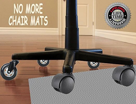 office chair casters covers and bows for wedding wonder wheels replacement rubber hardwood floors carpet lifelong warranty