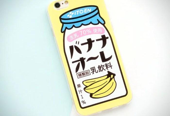 Japanese Banana Milk Iphone Case Ice Cream Cake