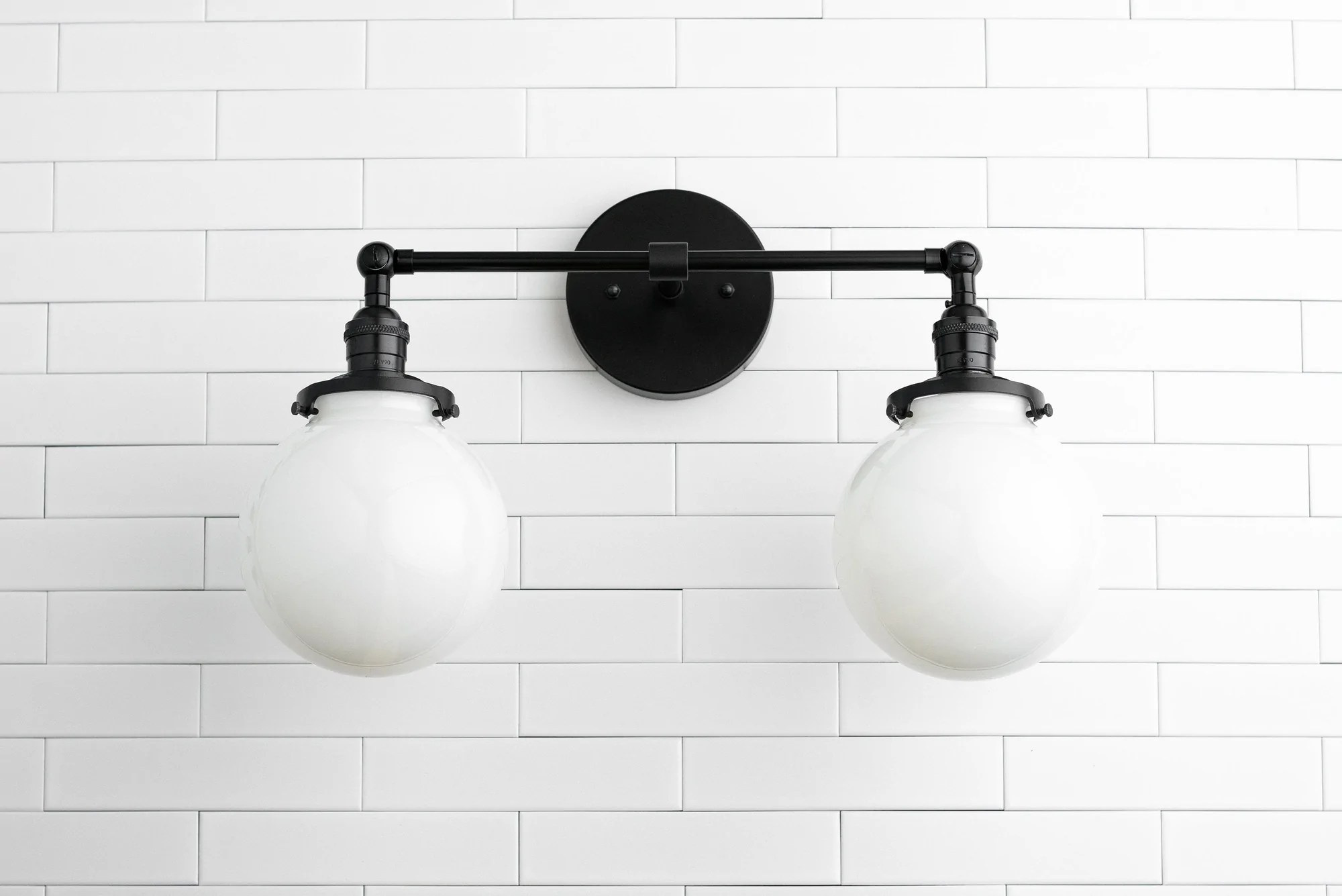 Bathroom Light Fixtures Globe Light Fixture Wall Light Vanity Light Globe Vanity Light Wall Mount Light Bathroom Lighting Hardwire Vanity