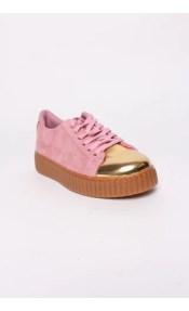 Sneakers με χρυσαφί λεπτομέρεια
