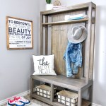 Diy Hall Tree Bench Handmade Haven