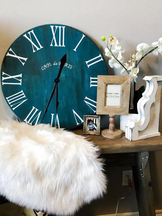 rustic roman numeral DIY Clock