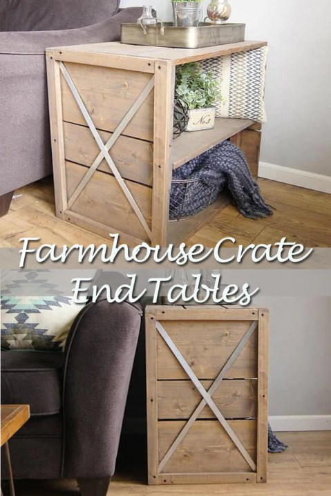 Crate end table 1024x1024 - Farmhouse Crate End Table