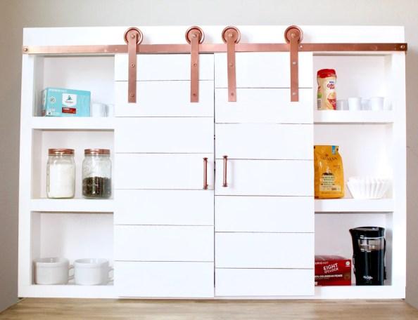 DIY Coffee Bar 18 1024x1024 - DIY Barn Door Coffee Bar Center