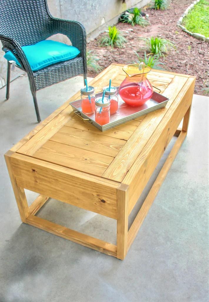 diy outdoor coffee table handmade haven