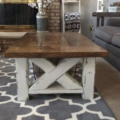 Diy Living Room Furniture Plans Decorative Ideas Chunky Farmhouse Coffee Table Woodworking Handmade 220 Grit Sand Paper For Distressing Now Its Time You To Take A Go At These And Make Your Own