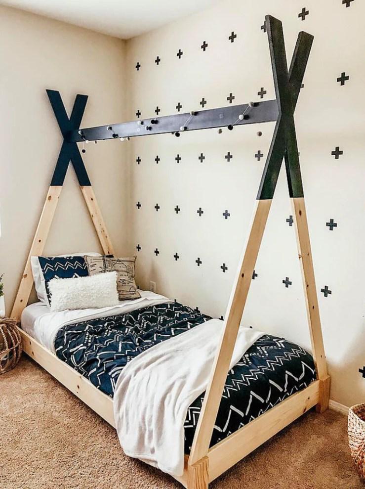 Kids Teepee BEd 1024x1024 - DIY Kids Teepee Bed