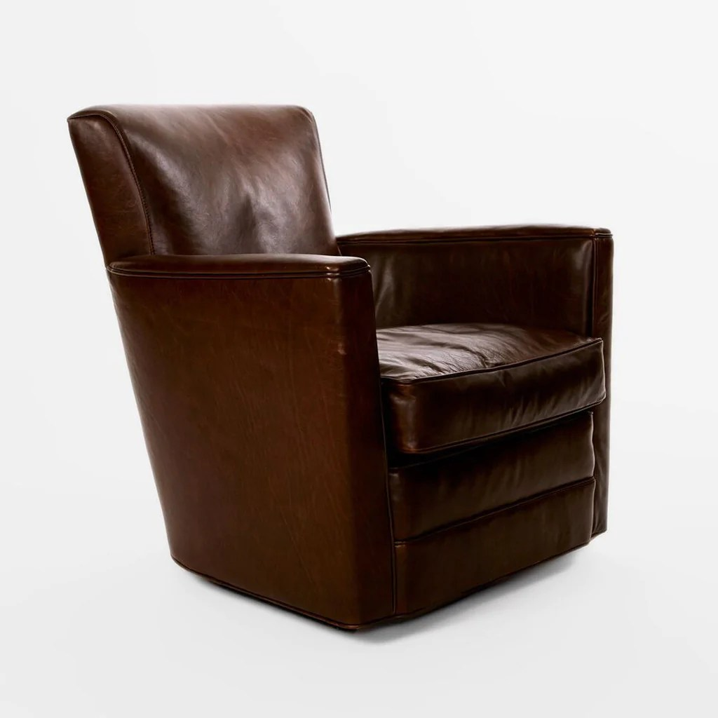Upholstered Swivel Chairs Leather Upholstered Swivel Chair