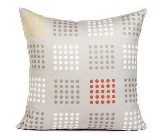Dotti Orange Throw Pillow