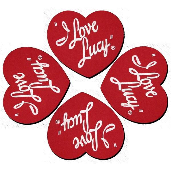 I Love Lucy Logo Coaster Set Lucille Ball Desi Arnaz Museum