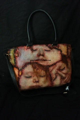 An Ed Gein inspired tote bag
