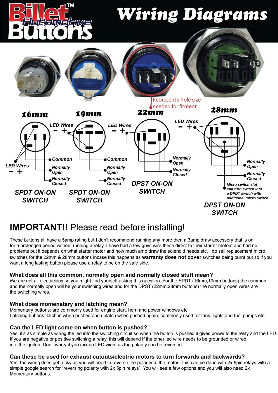 hight resolution of billet button wiring diagrams