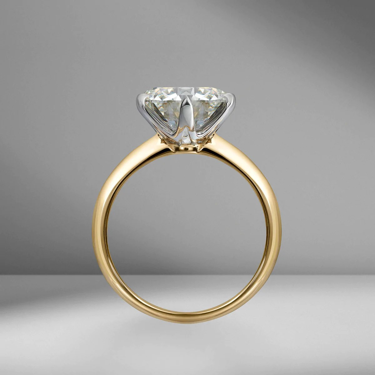 Brilliant Cut Solitaire Engagement Ring With Classic