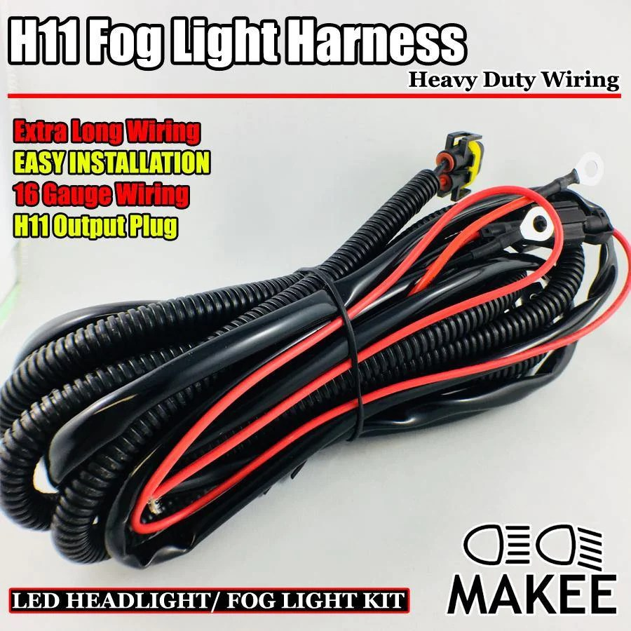 small resolution of headlight fog light lamp wiring harness with h11 9005 9006 880 sockets heavy duty