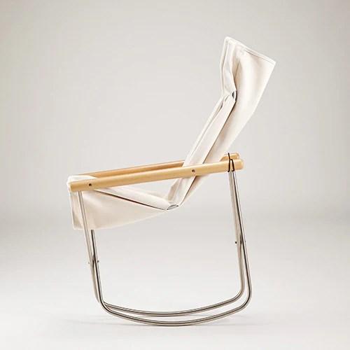 ny chair x rocking white