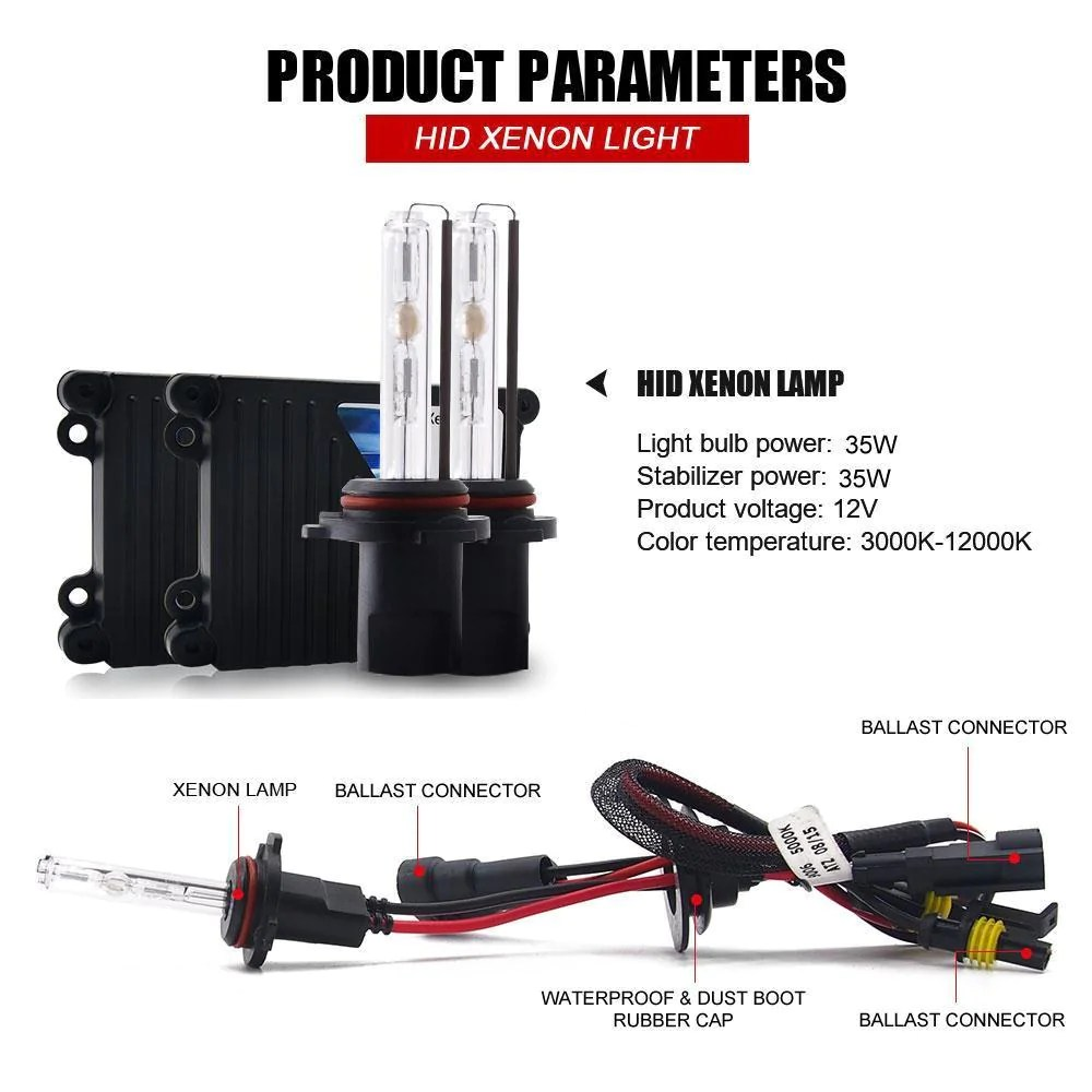 hight resolution of  35w 9007 hb5 xenon conversion hid headlight kit hi lo