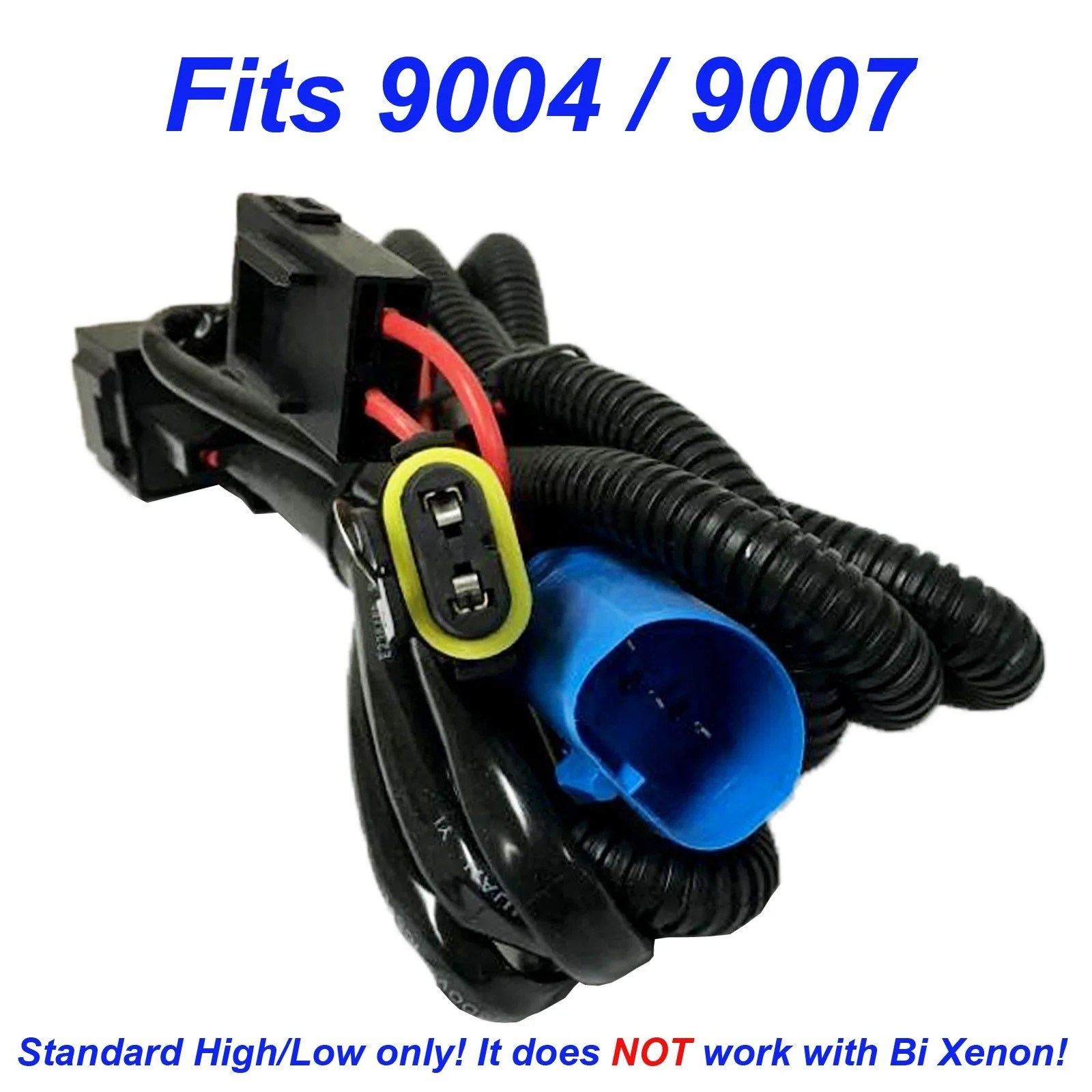 small resolution of hid kit 9007 9004 hb1 hb5 single hi lo beam wire relay harness 12v 35w 55w h l wiring