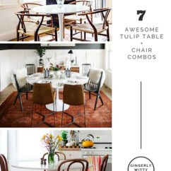 Just Chairs And Tables Deluxe Camping Home Decor Add 7 Awesome Tulip Table Chair Combos Combinations