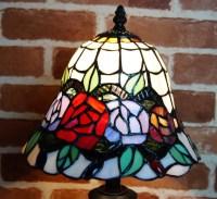 Elegant Rose Style Tiffany Buffet Lamp  Joanne Tiffany