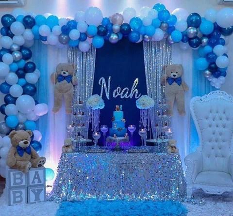 Adorable Teddy Bear Themed Baby Boy Shower Ideas