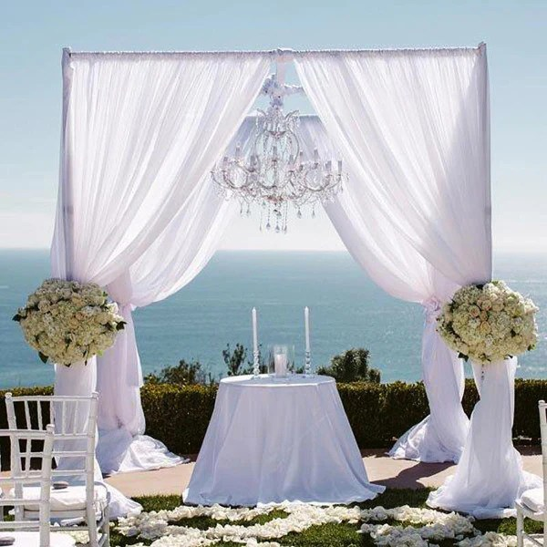 4 Post Height Adjustable Canopy Chuppah Mandap Wedding