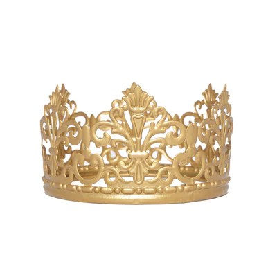 gold metal princess crown