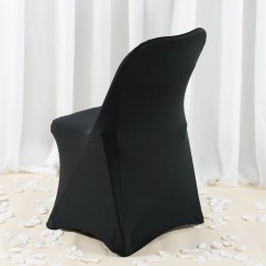 Folding Chair Leg Covers Toddler Couch Premium Spandex Cover Black Efavormart